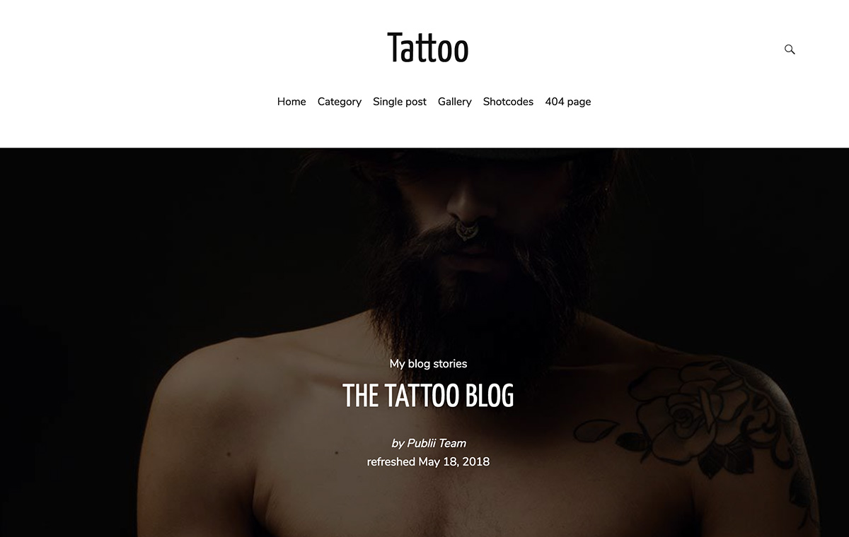 Tattoo Publii CMS theme