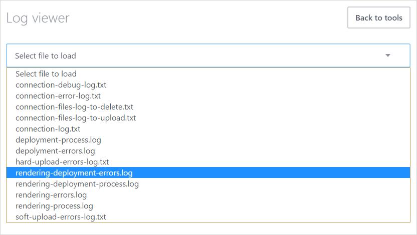 Rendering process logs