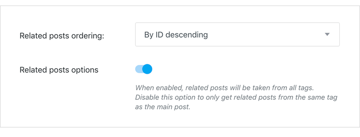 Realted posts option