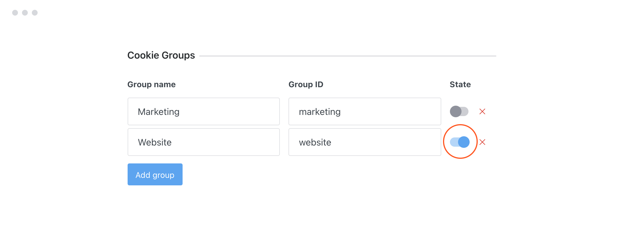 Cookie Group States GDPR