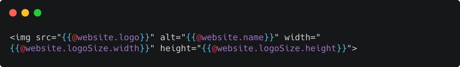 Logo Size Attribute - website.logoSize helper
