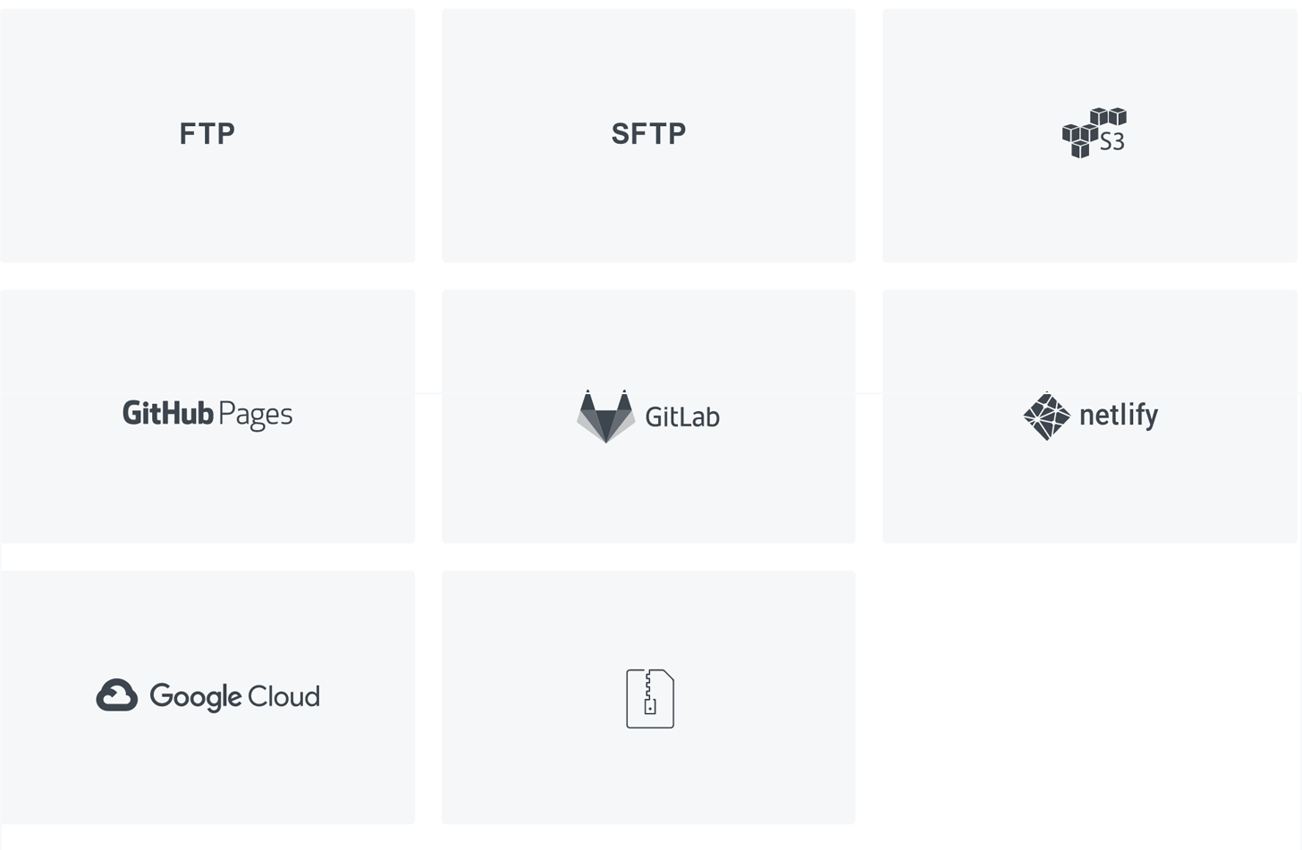 Select server type page