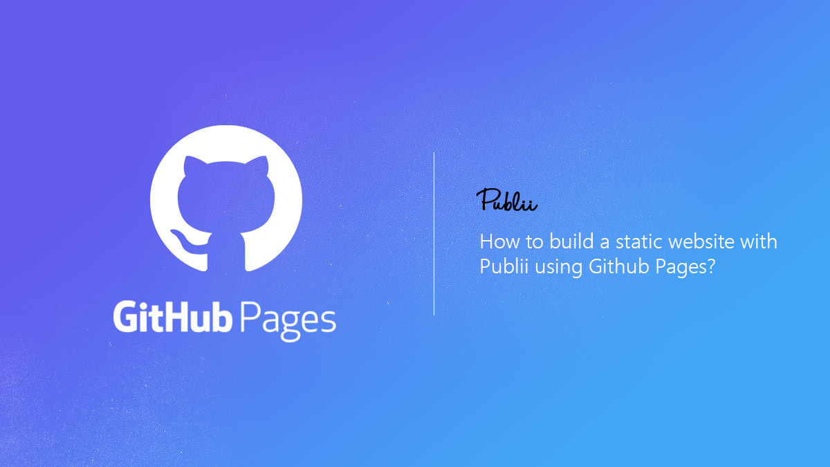 How to quickly create a static website using Github Pages
