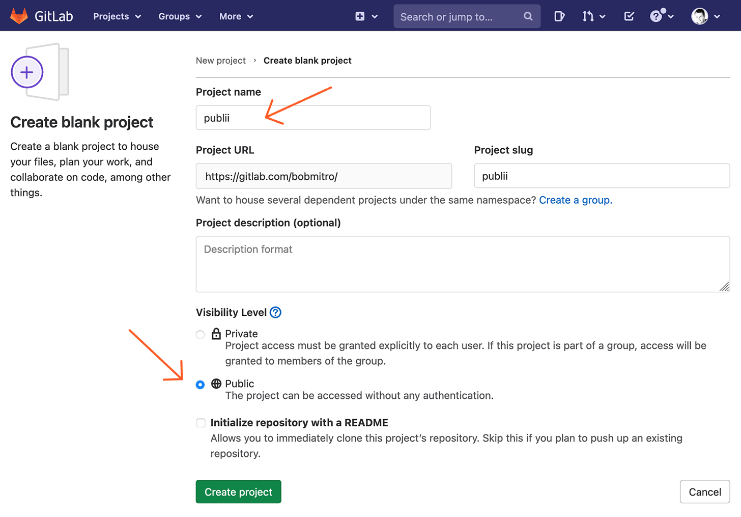 GitLab Project Name