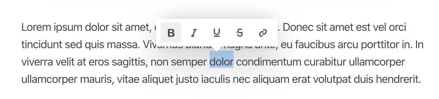 WYSIWYG Inline Editor