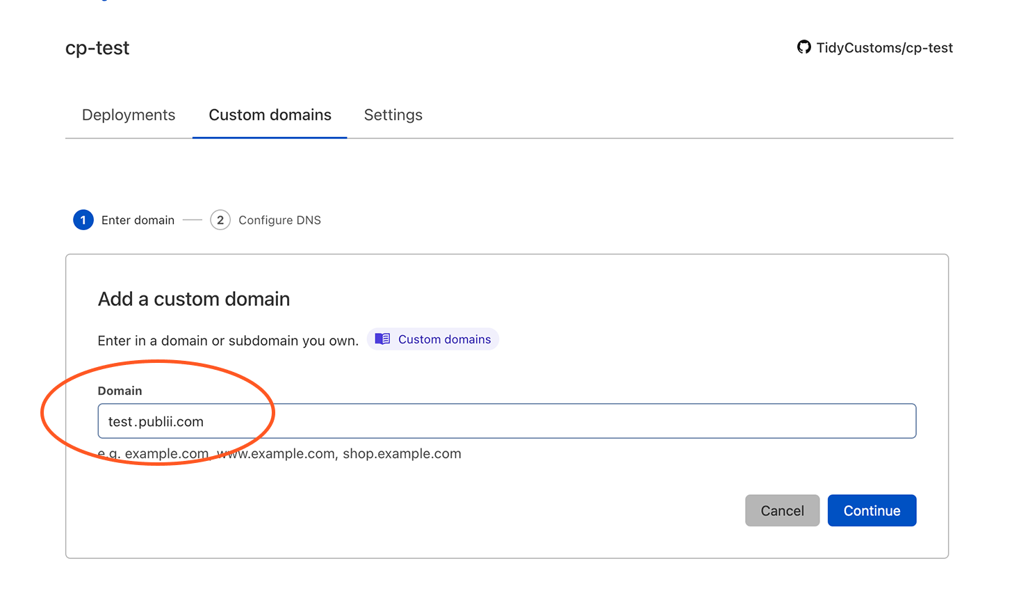 Cloudflare Add a Custom Domain